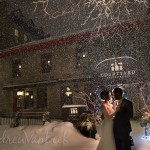 A Courtyard Restaurant Winter Wedding for Jennifer & Michael