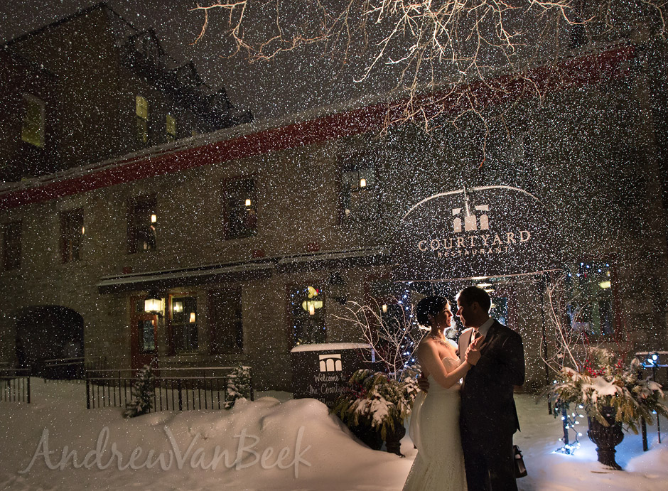 A Courtyard Winter Wedding (1)