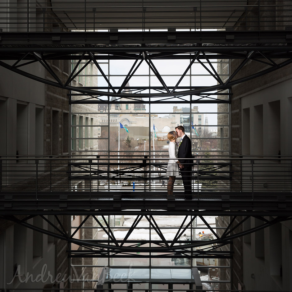 A City Hall Wedding. Photos by Ottawa Wedding Photographer Andrew Van Beek.